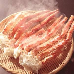 「タラバガニ脚1kg(500g×2肩)」太い脚肉をほうばる満足感!迫力!食べ応え満点!!