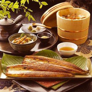「浅草うな鐡」塩蒲焼2尾と塩ひつまぶしの詰合せ4食分のセット - 拡大画像