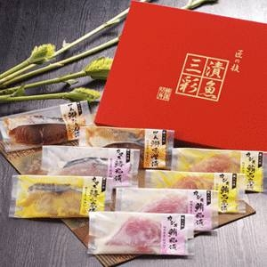 「漬魚三彩」8切入【焼津水産ブランド認定】粕漬、西京味噌漬け、みりん醤油漬、味噌漬