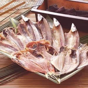 沼津「奧和」のひもの詰合せ5種(10枚)あじ、さんま、かます、金目鯛、えぼ鯛