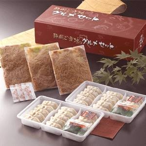 静岡B級グルメ対決「富士宮やきそば 200g×3食」Vs「浜松餃子 300g(15粒)×2トレイ」シリーズA