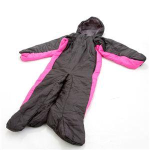 人型寝袋(シュラフ) ブラック×ピンク