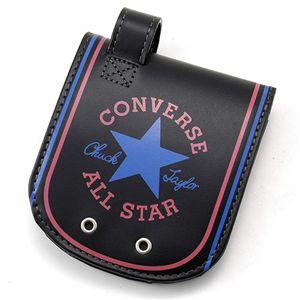 CONVERSE(コンバース)ヒップポケット レザーウォレット(財布)【オールスター】ブラック - 拡大画像