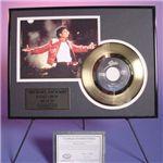 マイケルジャクソン・ゴールドレコード額装【18Kコーティング】A.Beat It(今夜はビートイット)視聴不可