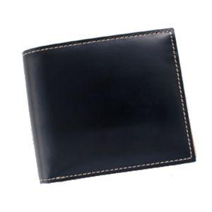 ブライドルレザー ボリュームカードウォレット ブラックの写真1
