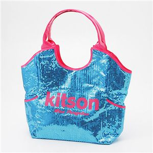 kitson(キットソン) スパンコール トートバッグ Sequin Tote Bag アクア - 拡大画像