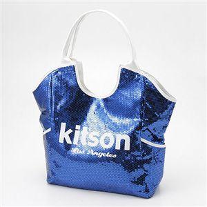 kitson(キットソン) スパンコール トートバッグ Sequin Tote Bag ネイビー - 拡大画像