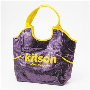 kitson(キットソン) スパンコール トートバッグ Sequin Tote Bag パープル - 拡大画像
