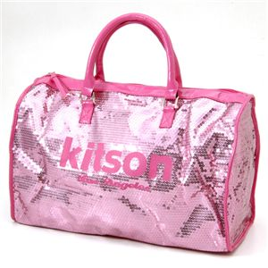 kitson(キットソン) スパンコール ボストンバッグ LEGGAGE SEQUIN TOTE /Pink - 拡大画像