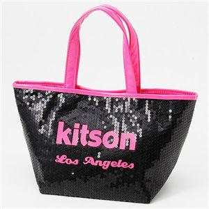 kitson(キットソン) ネオン スパンコール ミニトートバッグ Pink - 拡大画像