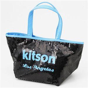 kitson(キットソン) ネオン スパンコール ミニトートバッグ Blue - 拡大画像
