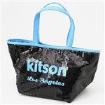 【¥6,980】kitson(キットソン) ネオン スパンコール ミニトートバッグ Blue