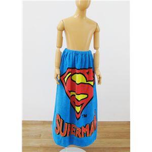 ワーナーブラザース スーパーマン ヒーロー 80cm丈ラップタオル