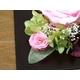 プリザーブドフラワーの壁掛け ピンクのバラ - 縮小画像4