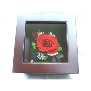 プリザーブドフラワーの壁掛け 赤バラ - 拡大画像