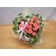 贈り物にローズハートのピンクバラ アレンジ 写真1