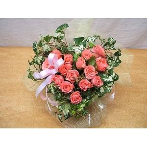 贈り物にローズハートのピンクバラ アレンジ