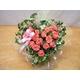 贈り物にローズハートのピンクバラ アレンジ 写真2