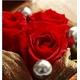 プリザーブドフラワー ローズジュエルボックス赤バラ 写真1