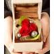 プリザーブドフラワー ローズジュエルボックス赤バラ 写真2