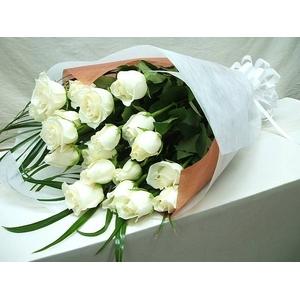 生花 20本白バラ花束20本ギフト