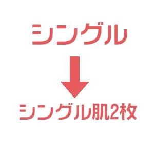 羽毛布団のリフォーム(打ち直し)【お手軽コース】(シングル掛→シングル肌2枚)【普通仕立】【25799】ブルー 綿100%