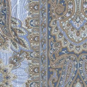 羽毛布団のリフォーム(打ち直し)【お手軽コース】(ダブル掛→シングル掛2枚/ツインキルト仕立)【25799】ブルー 綿100%