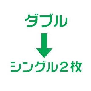羽毛布団のリフォーム(打ち直し)【お手軽コース】(ダブル掛→シングル掛2枚/ベッドタイプ)【19212】ブルー 綿100%