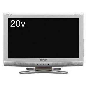 SHARP(シャープ) AQUOS(アクオス) 20V型デジタルハイビジョン液晶テレビ シルバー系 LC-20E6-S