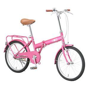 Raychell 折畳自転車 09 Raychell OF-20R-P ピンク画像1