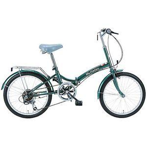 マイパラス 折畳自転車 M-30-GR モスグリーン画像1
