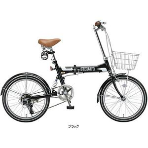 ARUN 折畳自転車 MSB-206AS ブラック画像1