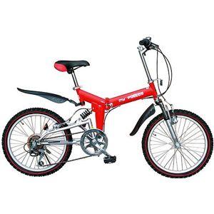 マイパラス 折畳自転車 M-10-RS レッド・シルバー画像1