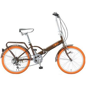 Raychell 折畳自転車 09 Raychell MF-206RC-BW ブラウン画像1