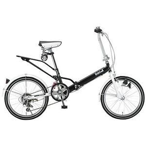 Raychell 折畳自転車 09 Raychell VO-206R-BK ブラック画像1