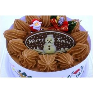 【12月8日で予約終了 2010年クリスマス向け】クリスマスケーキ チョコ5号 【12/21より順次発送】 - 拡大画像