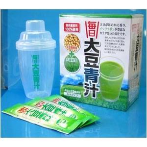 毎日 大豆青汁(4g×32包入)専用シェーカーつき!(約1か月分)×2箱セット 画像2