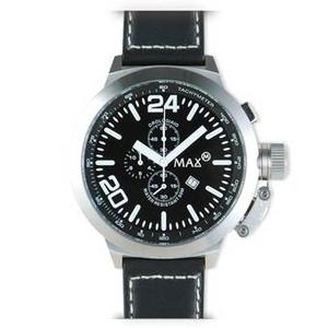 MAX XL WATCHES(マックスエックスエルウォッチ) レザーベルト腕時計 55ミリ 5-MAX361 ブラックフェイス