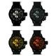 MAX XL WATCHES(マックスエックスエルウォッチ) レザーベルト腕時計 47ミリ 5-MAX524 ブラックフェイス 4枚交換レンズ付 - 縮小画像2