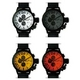MAX XL WATCHES(マックスエックスエルウォッチ) レザーベルト腕時計 47ミリ 5-MAX523 ホワイトフェイス 4枚交換レンズ付 写真2