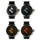 MAX XL WATCHES(マックスエックスエルウォッチ) レザーベルト腕時計 47ミリ 5-MAX522 ブラックシルバーフェイス 4枚交換レンズ付 写真2