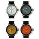 MAX XL WATCHES(マックスエックスエルウォッチ) レザーベルト腕時計 47ミリ 5-MAX521 シルバーホワイトフェイス 4枚交換レンズ付 - 縮小画像2