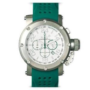 MAX XL WATCHES(マックスエックスエルウォッチ) ラバーベルト腕時計 5-MAX519 47ミリ グリーン - 拡大画像