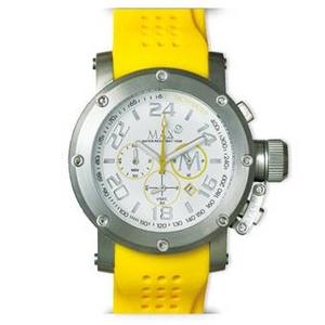 MAX XL WATCHES(マックスエックスエルウォッチ) ラバーベルト腕時計 5-MAX517 47ミリ イエロー - 拡大画像