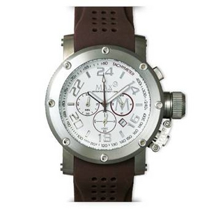 MAX XL WATCHES(マックスエックスエルウォッチ) ラバーベルト腕時計 5-MAX516 47ミリ ブラウン - 拡大画像