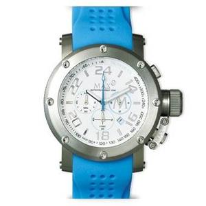 MAX XL WATCHES(マックスエックスエルウォッチ) ラバーベルト腕時計 5-MAX512 47ミリ ブルー - 拡大画像