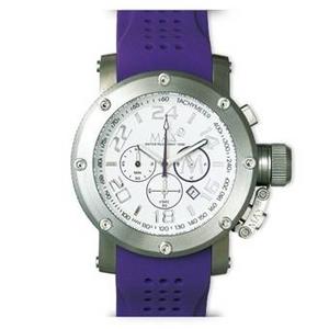 MAX XL WATCHES(マックスエックスエルウォッチ) ラバーベルト腕時計 5-MAX510 47ミリ パープル - 拡大画像
