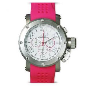 MAX XL WATCHES(マックスエックスエルウォッチ) ラバーベルト腕時計 5-MAX506 47ミリ ピンク - 拡大画像