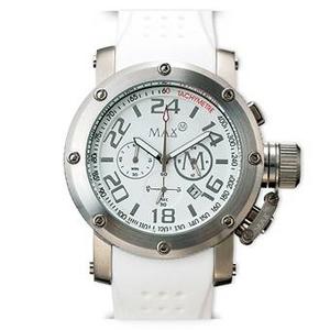 MAX XL WATCHES(マックスエックスエルウォッチ) ラバーベルト腕時計 5-MAX451 47ミリ ホワイト - 拡大画像