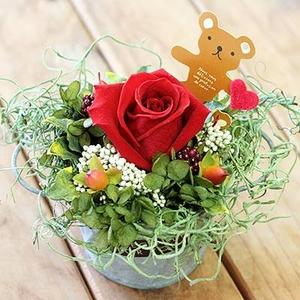 ★枯れないお花★プリザーブドフラワーアレンジメント<ローズ>